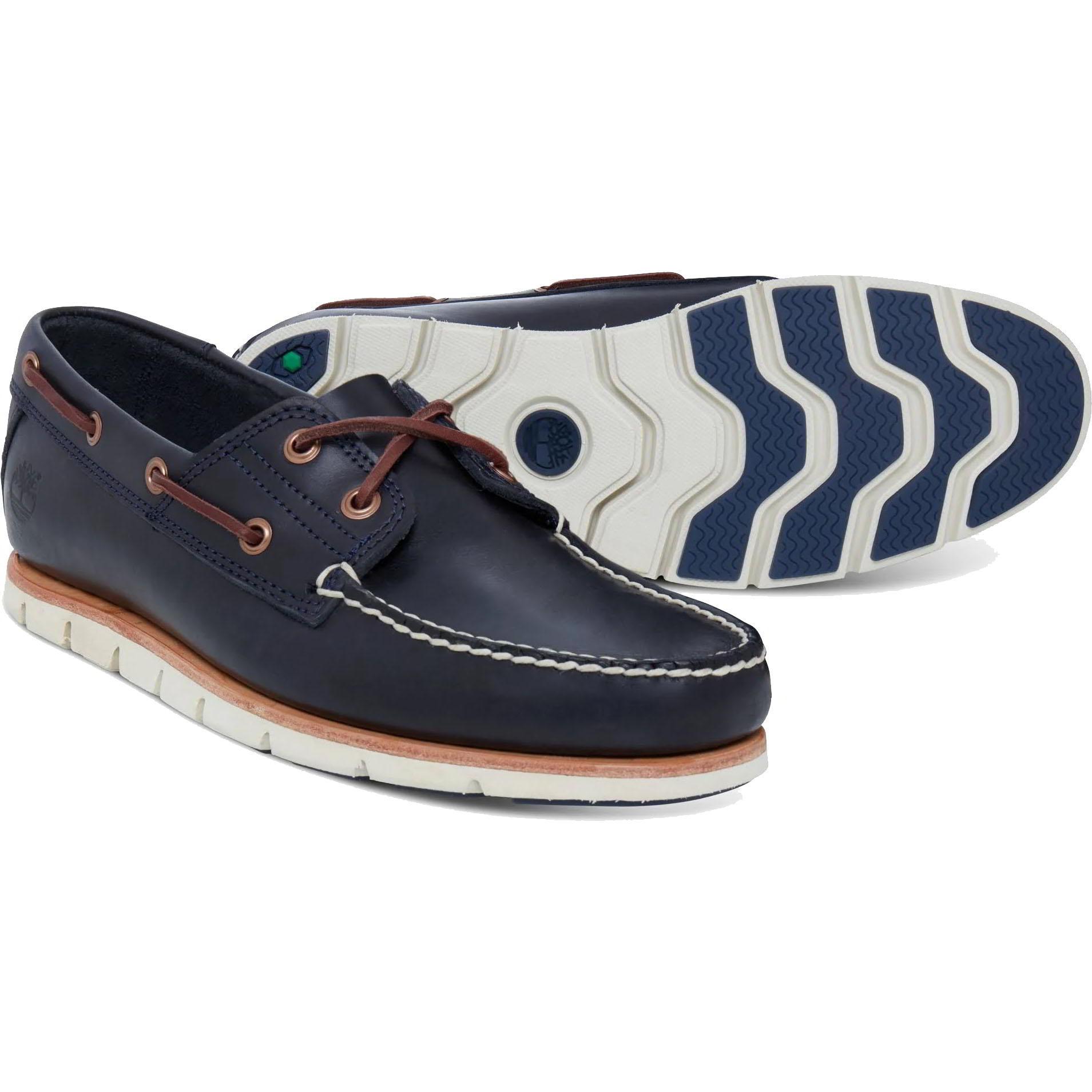 Timberland Mens Tidelands Boat Deck Shoes - Navy - A1BBU