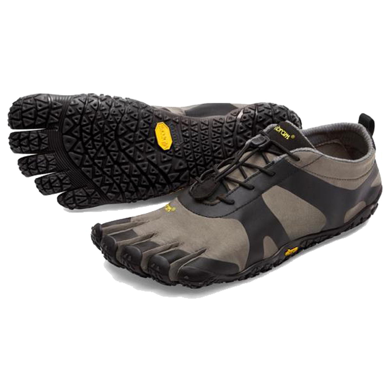 Vibram Five Fingers Mens V-Alpha Barefoot Shoes - Grey Black