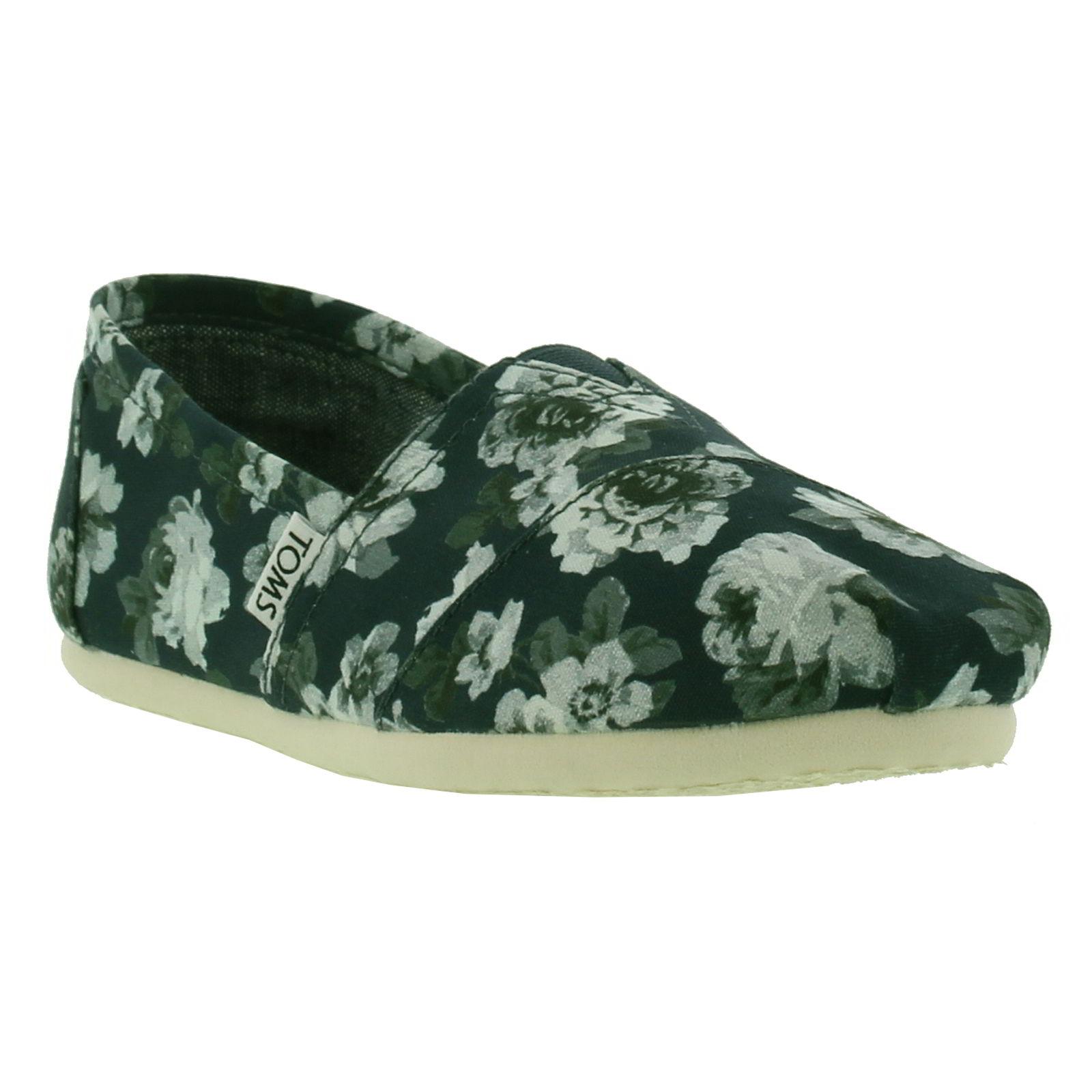 Toms Womens Classics Alpargata Espadrille - Navy Grey Floral