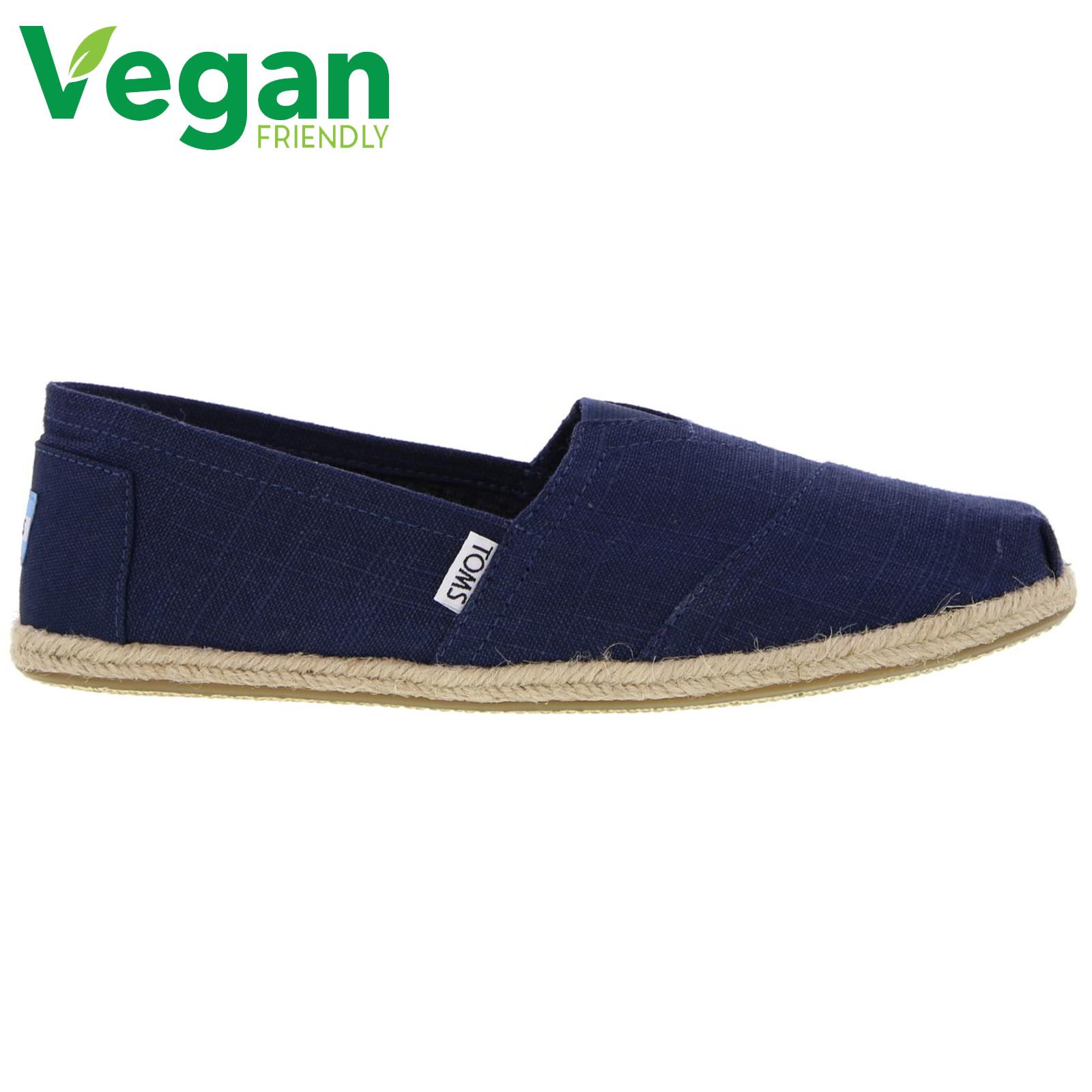Toms Mens Classic Alpargata Espadrille Shoes - Navy Linen