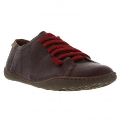 Camper Womens Peu Cami 20848 Leather Shoes Trainers - Brown Red