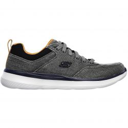 Skechers Mens Delson 2.0 Kemper Canvas Trainers - Charcoal