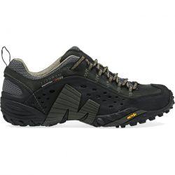 Merrell Mens Intercept Leather Walking Shoes - Black Smooth