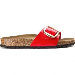 Birkenstock Womens Madrid Big Buckle Sandals - Patent Cherry
