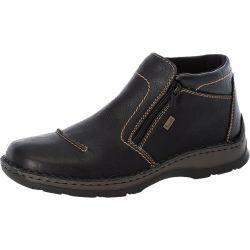 Rieker Mens Extra Wide Fit Ankle Boots - Black Black