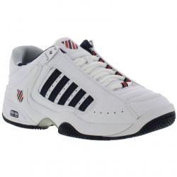 K Swiss Defier Mens Tennis Shoes - White Dress Blue Red