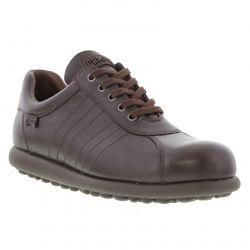 Camper Mens Pelotas Ariel 16002 Leather Shoes - Dark Brown