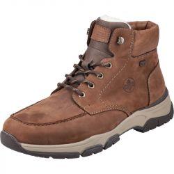 Rieker Mens 31240 Wide Fit Water Resistant Walking Boots - Brown