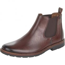 Rieker Mens Wide Fit Water Resistant Chelsea Boots - Brown Havanna