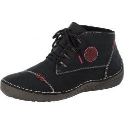 Rieker Womens 52502 Chukka Boots - Black Schwarz Wine