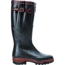 Aigle Parcours 2 ISO Mens Womens Adjustable Neoprene Wellies Rain Boots - Bronze