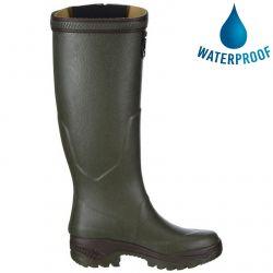 Aigle Parcours 2 Vario Adjustable Mens Womens Wellies Rain Boots - Khaki