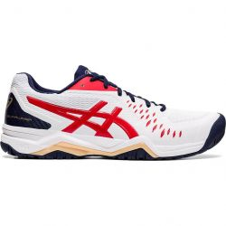 Asics Mens Gel Challenger 12 Tennis Shoes Trainers - White Classic Red