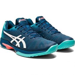 Asics Mens Solution Speed FF Tennis Shoes - Mako Blue White
