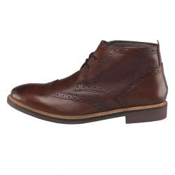 Base London Mens Trick Brogue Boots - Tan
