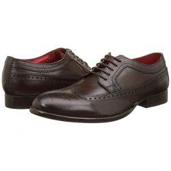 Base London Mens Bailey Brogue Shoes - Grain Brown