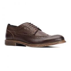 Base London Mens Onyx Brogue Shoes - Brown
