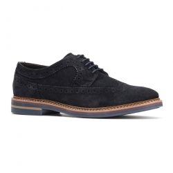 Base London Mens Turner Brogue Shoes - Navy