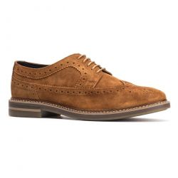 Base London Mens Turner Brogue Shoes - Tan
