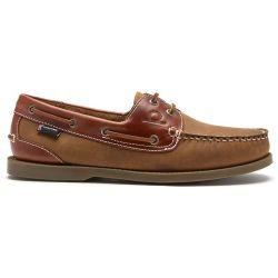 Chatham Mens Bermuda II G2 Leather Boat Shoes - Walnut Seahorse