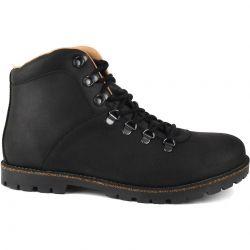 Birkenstock Mens Jackson Hiker Boots - Black Nubuck Leather