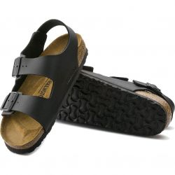 Birkenstock Mens Womens Milano Sandals Regular Fit - Black