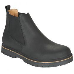 Birkenstock Unisex Stalon Chelsea Boots - Black Nubuck Leather
