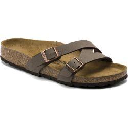 Birkenstock Womens Yao Balance BirkoFlor Sandals - Mocca BirkiBuck