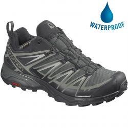 Salomon Mens X Ultra 3 Gtx Waterproof Walking Hiking Trainers Shoes - Urban Chic Shadow Lunar Rock