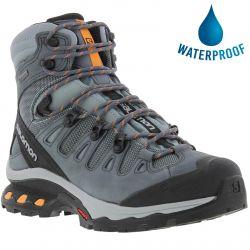 Salomon Womens Quest 4D 3 Gtx Waterproof Walking Hiking Boots - Lead Stormy Weather