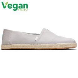 Toms Mens Classic Alpargata Espadrille Vegan Shoes - Plant Dyed Grey