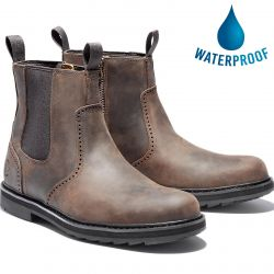 Timberland Mens Squall Canyon Chelsea Waterproof Ankle Boots - Dark Brown - A2KE6