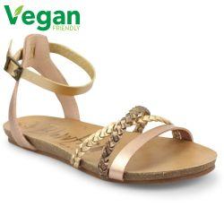 Blowfish Womens Galie B Vegan Sandals - Pearl Rose Gold Amber