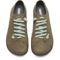 Camper Womens Peu Cami 20848 Leather Shoes Trainers - Dark Green