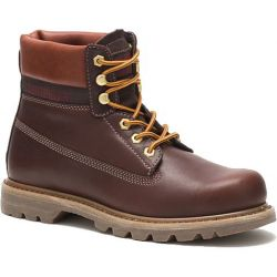 Caterpillar Mens Cat Colorado Lux Leather Ankle Boots - Deep Mahogany