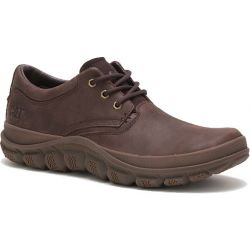 Caterpillar Mens Cat Fused Tri Leather Shoes - Coffee Bean