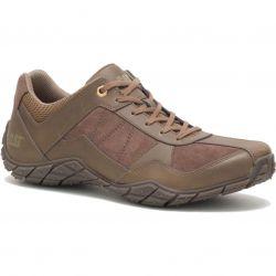 Caterpillar Mens Profuse Leather Shoes - Dark Beige