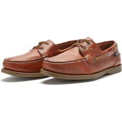 Chatham Mens Deck II G2 Leather Sailing Boat Deck Shoes - Chestnut