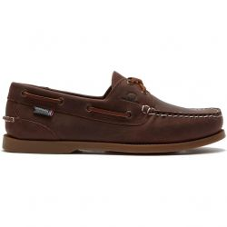 Chatham Mens Deck II G2 Leather Sailing Boat Deck Shoes - Chocolate