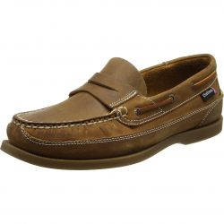 Chatham Mens Gaff II G2 Slip On Deck Shoes - Walnut