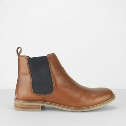 Cipriata Womens Alexandra Leather Chelsea Boots - Cognac Tan