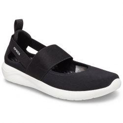 Crocs Womens LiteRide Mary Jane Sports Pumps - Black White