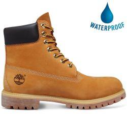 Timberland Mens 6 Inch Premium Yellow Classic Wide Waterproof Boots - 10061 - Wheat