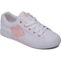 Dc Womens Chelsea Trainers - White Pink