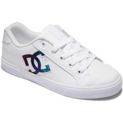 DC Womens Chelsea Trainers - White Rainbow Sparkle