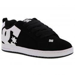 DC Mens Court Graffik Skate Shoes - Black