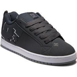 DC Mens Court Graffik Skate Shoes - Grey Grey White