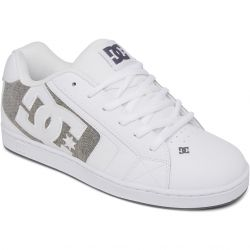 DC Mens Net Skate Shoes - White Armour White
