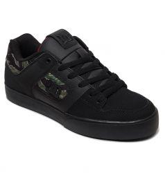 DC Mens Pure SE Skate Shoes - Camo Black