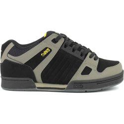 DVS Mens Celsius Skate Shoes - Brindle Black Yellow Nubuck